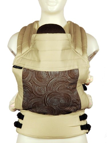 BabyHawk Oh Snap! Organic Baby Carrier, Let it Grow Brown on Natural