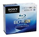 SONY 日本製 ビデオ用BD-R 追記型 片面2層50GB 2倍速 ホワイトプリンタブル 10枚P 10BNR2VCPS2