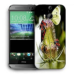 Snoogg Multiple Flyies Printed Protective Phone Back Case Cover For HTC One M8