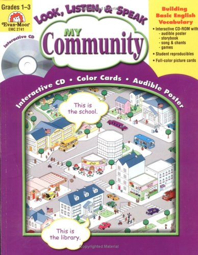 My Community with CDROM and Poster (Look, Listen, & Speak Activities for Building Basic English)