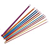 12 Sizes Multi coloured Aluminium Crochet Hooks Needles Set 2mm-8mm (Multicolored)
