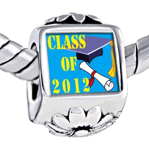 Pugster Bead Class 2008 Graduation Beads Fits Pandora Bracelet