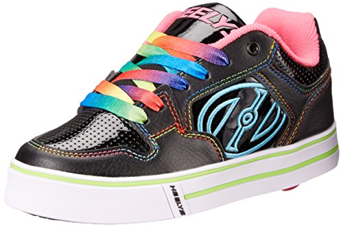 Heelys Motion Plus Black/Pink/Rainbow Kids 3uk