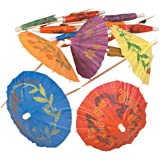 Cocktail Parasol Drink Umbrellas -Box of 144- Tropical Style