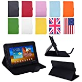"HDE Universal 7"" Leather Folding Folio Tablet Case Cover (Black)"
