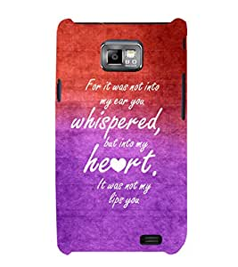 EPICCASE romantic quotes Mobile Back Case Cover For Samsung Galaxy S2 (Designer Case)