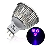 Assyrian Mr16 Led Bulbs - 3w Mr16 Led Ultraviolet Color Purple Light Flashlight Bulb Lamp Torch Ac/Dc 12v - Mr16 Flashlight (Color: purple)