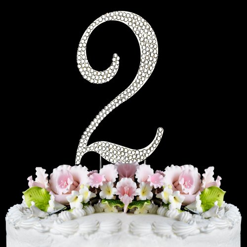 Rhinestone Cake Topper Number 2 (Number Cake Topper compare prices)