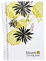 2014 bloom Calendar Year Daily Day Planner Fashion Organizer Agenda January 2014 Through December 2014 Bloom Flowers