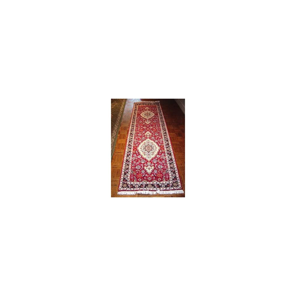 2x9 Hand Knotted Tabriz Persian Rug   910x210