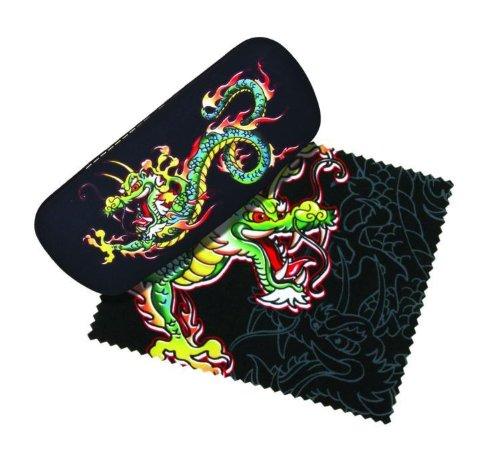 Dragon Tattoo Eye Reading Glasses Case & Lens Cloth