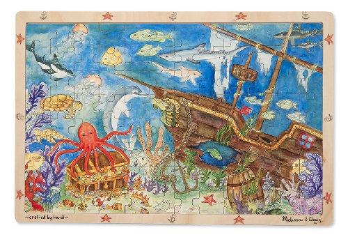 Melissa & Doug Doug Sunken Treasures Wooden Jigsaw Puzzle, 96-Piece