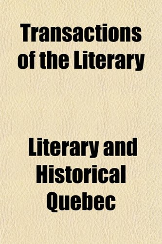 Transactions of the Literary