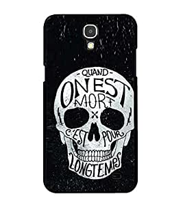 Fuson Premium 2D Back Case Cover Designed Skull With Red Background Degined For Samsung Galaxy Mega 2 SM-G750H