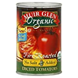 Muir Glen Organic Diced Fire Roasted Tomato No Salt ( 12x14.5 OZ)