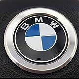BMW i8 ルック ステアリング メッキ リング (シルバー)