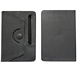 Brain Freezer Rotating With Button 7 Inch Flip Flap Case Cover Pouch Carry For Xolo Play Tab 7.0 Case Black