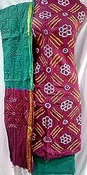 Shubh Women's Dress Material (7992CDRDGR_Red Green_Free Size)