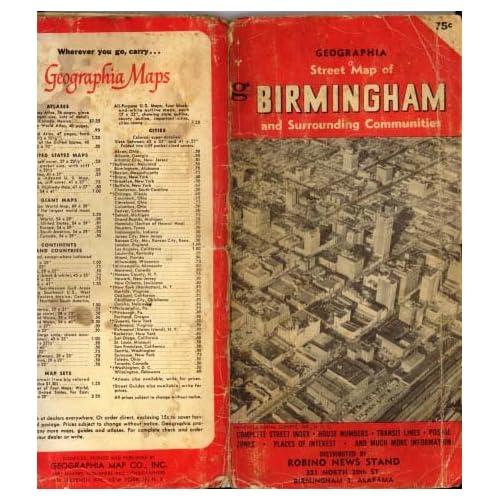 Street Map of Birmingham Alabama 1950's: Ribino News Stand: Amazon.com
