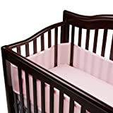 BreathableBaby Breathable Mesh Crib Liner, Light Pink