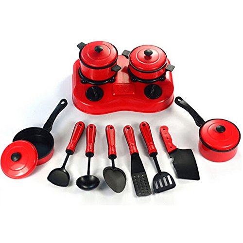 11PCS Children Pretended Role Paly Kitchen Utensil Accessories Cooking Toy Cookware Set shopping