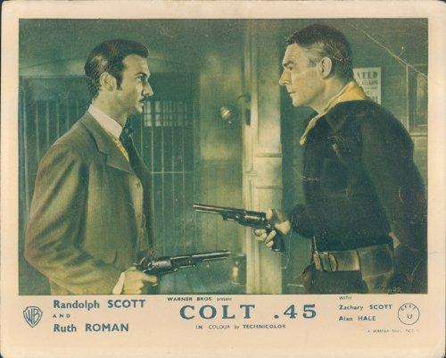 colt-45-randolph-scott-zachary-guns-lobby-card-originale