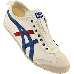 Onitsuka Tiger Mexico 66 Slip-On Classic Running Shoe, White/Tricolor, 9 M US