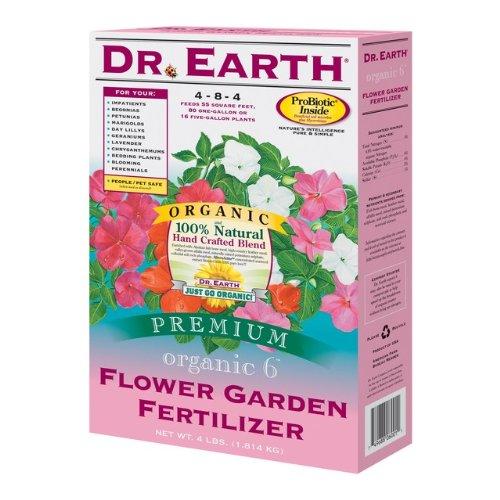 DR EARTH 4 Lb Box Organic Flower Garden Fertilizer Sold in packs of 12