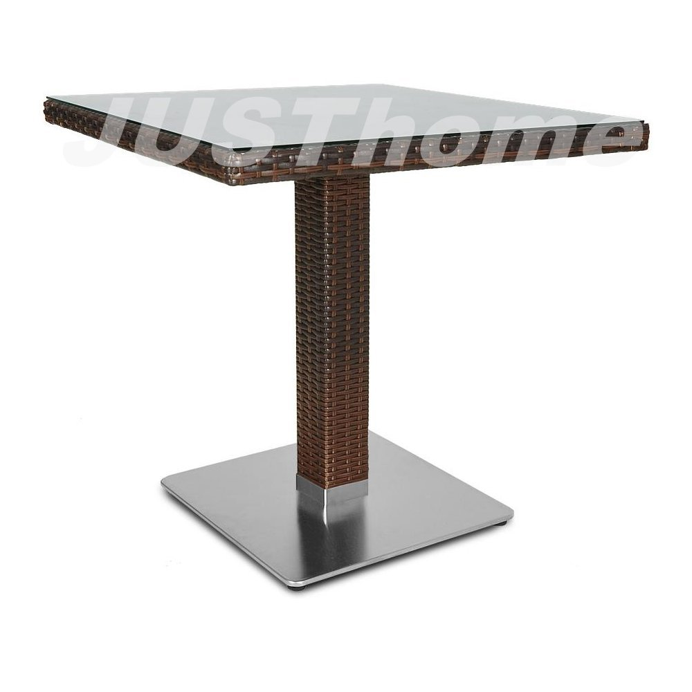 JUSThome Gartentisch Glastisch Polina/Merano (HxBxL): 74x80x80 cm Braun