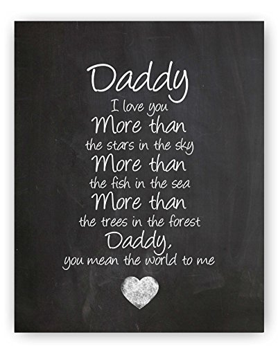 Daddy Poem Chalkboard Print by Ocean Drop Photography (8x10