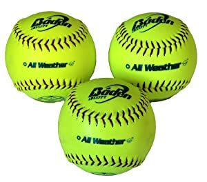 Baden Baden All Weather Rainproof Softball - Yellow, 12 Inch