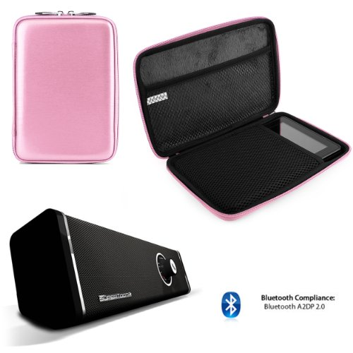 Travel Hard Nylon Lightweight Case For Rca Rct Rct6378W2, Rct6077W22, Rct6077W2 7-Inch Tablet + Bluetooth Speaker