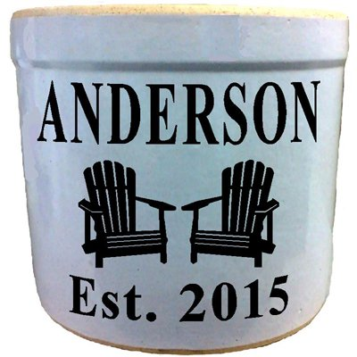 2 Gallon Personalized Stoneware Crock - Adirondack (Crock 2 Gallon compare prices)