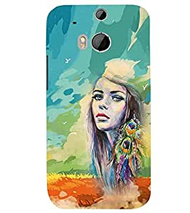 PRINTSWAG PAINTED GIRL Designer Back Cover Case for HTC ONE M8S