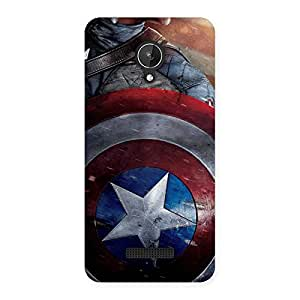 Enticing Round Multicolor Shi Back Case Cover for Micromax Canvas Spark Q380