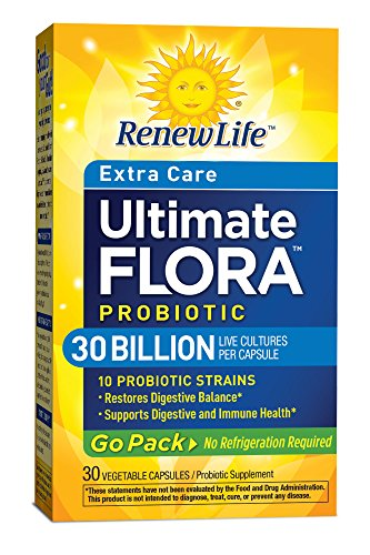 Ultimate Flora Extra Care Probiotic Go Pack 30 Billion (Formerly RTS Extra Strength) 30 Capsules (Ultimate Pack compare prices)