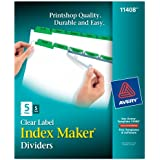 Avery Index Maker Dividers, 5-Tab, White,  5 Sets (11408)