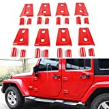 Bolaxin Jeep Wrangler JK Unlimited Red Door Hinge Covers
