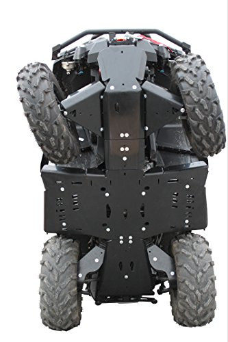 Skid plate protection in 10mm HDPE Plastic Can Am Outlander 500/570/650 XMR/800/850 XMR, XT/1000, G2 chassi, 2012-2016 Complete set including rear and front A-Arm guards (Can Am Outlander 800 Xmr compare prices)