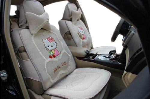 Quality Ice Kitty Auto Car Front Rear Seat Saddle Cover 8pcs EMS Shipping ZJ000165