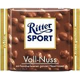 Ritter Sport Milk Chocolate with RUM, Raisins, and Hazelnuts 100g