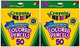 Crayola 50ct Long Colored Pencils (68-4050) Pack Of 2