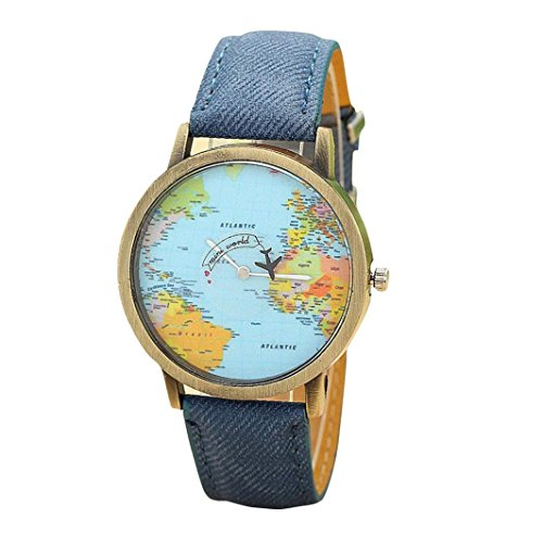 familizo-world-map-denim-fabric-band-women-dress-watch-blue