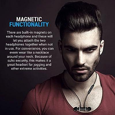4.1 Stereo Magnetic Bluetooth Wireless Headphones & Binaural Earphones with Microphone