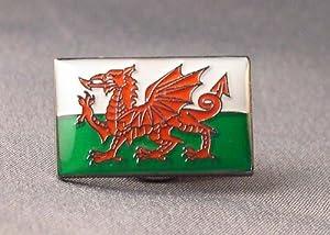 Metal Enamel Pin Badge Wales Dragon Welsh Flag Saint David Baner Cymru