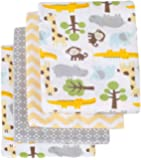 Carter's Receiving Blanket, Green/Yellow Safari, 4 Count (Discontinued by Manufacturer)