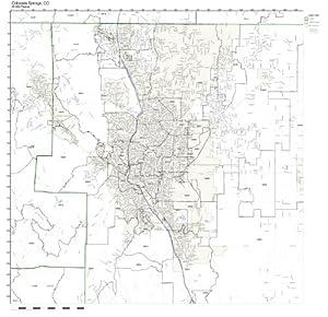 Amazon.com: Colorado Springs, CO ZIP Code Map Not Laminated: Home ...