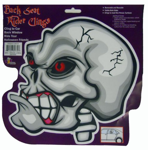 Skeleton Halloween Decoration Decal - Back Seat