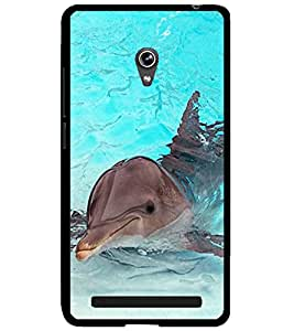 ColourCraft Lovely Dolphin Design Back Case Cover for ASUS ZENFONE 6 A600CG