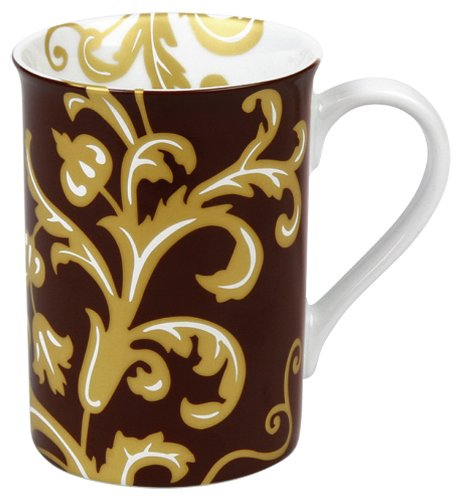 Konitz 10-Ounce Golden Times Baroque Mugs, Assorted, Set of 4
